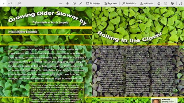 Growing Older Slower by Rolling in the Clover by Mark Braunstein
