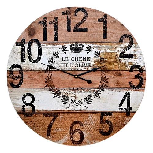 HOR056  Clock Wall 58cm Olive