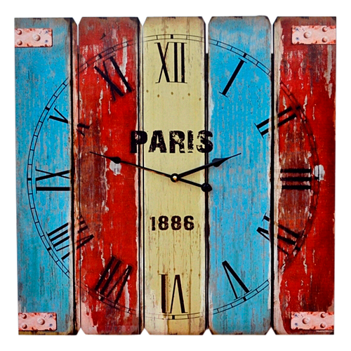 HOR058  Clock Wall 58cm Sq Paris