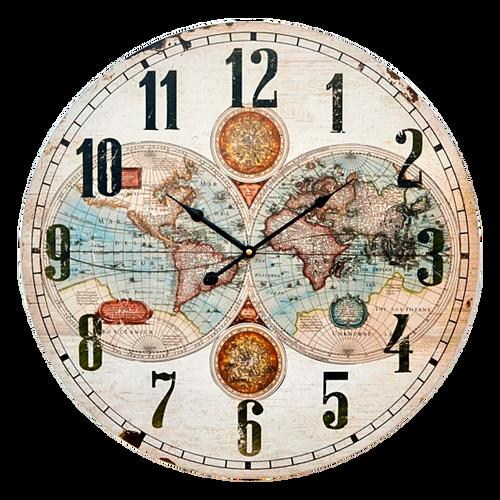 HOR059  Clock Wall 58cm Map