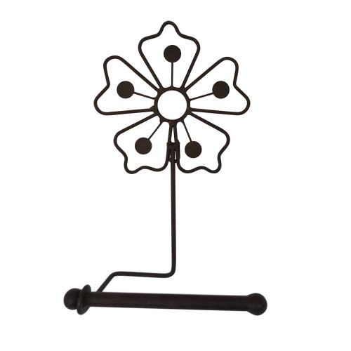 MET021  Toilet Roll Holder Wall Flower 28x19cm