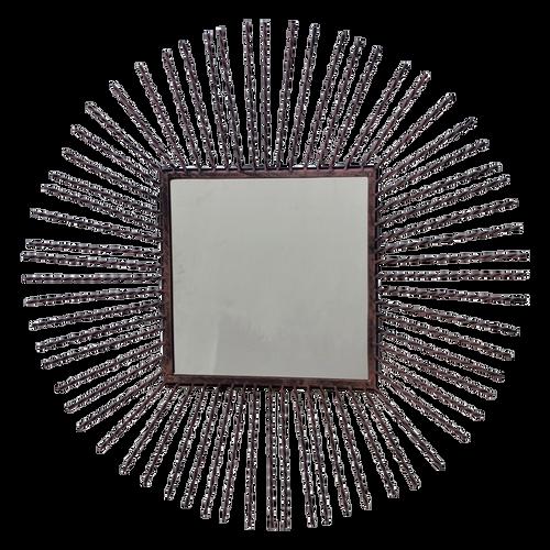 MET088  Mirror Sun 70x70cm
