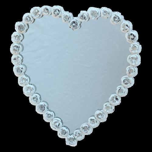 MIR015  Mirror Heart 40x37cm