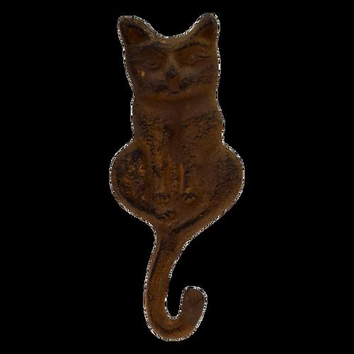 MET101B  1 Hook Cat Brown 18x8cm