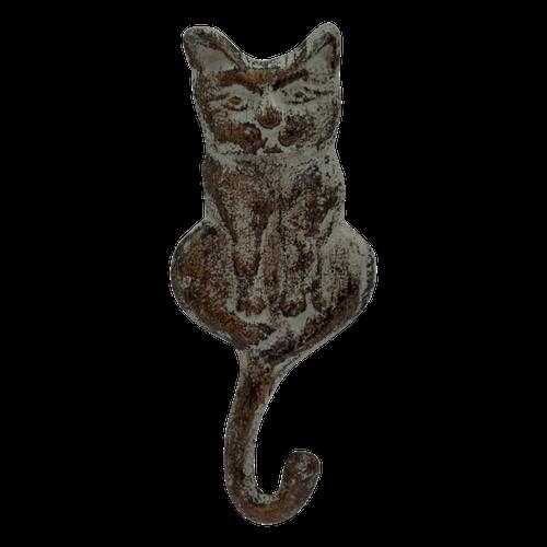 MET101G  1 Hook Cat Grey 18x8cm