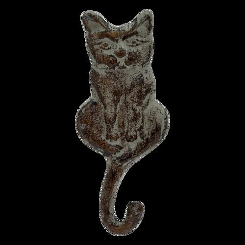 1 Hook Cat Grey 18x8cm