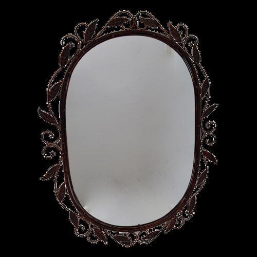 MIR016  Mirror Oval Metal 66x51cm