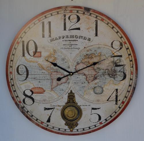 HOR070 Clock Wall With Pendulum 58cm