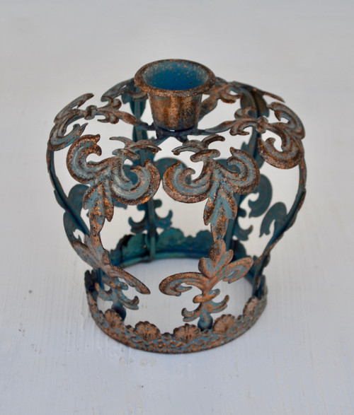 T065 Candle Holder Crown 12x12cm