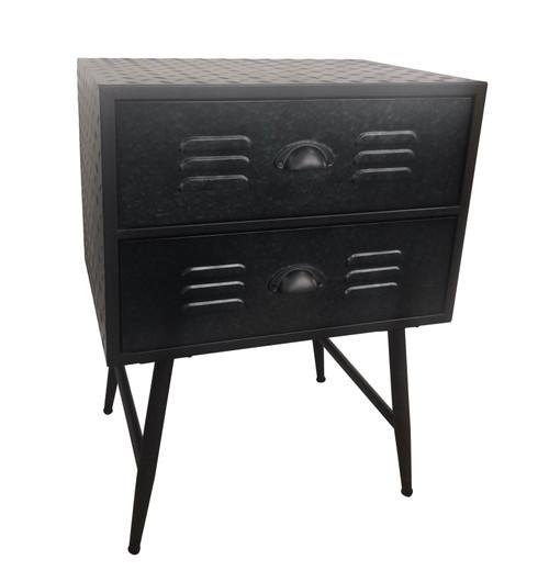 AF066 Table Metal 2 Drawer 50x35x67cm