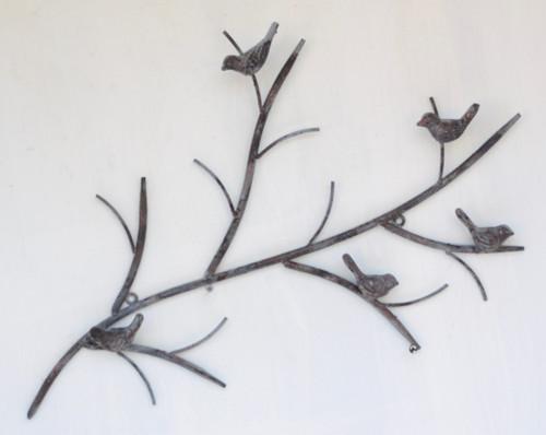 MET115G Wall Decor Branch/Bird R 58x39cm