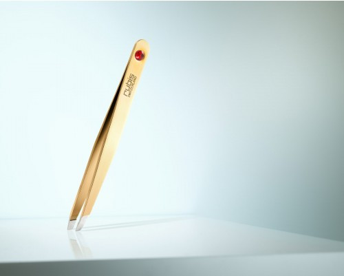 TWEEZERS SWAROVSKY GOLD RUBY