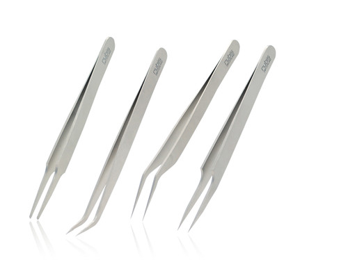 EYELASH TWEEZERS 4PCS