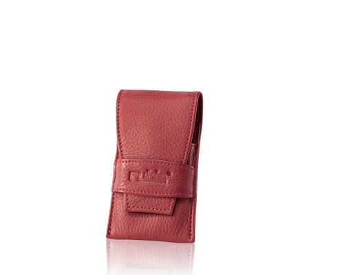 RED LEATHER CASE 4PC Empty