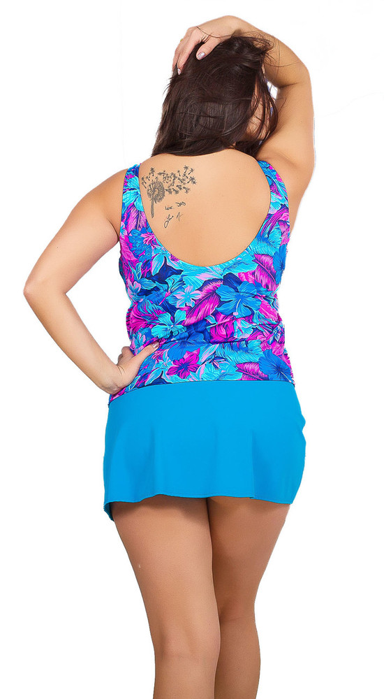 Women's Loose Fit Tankini with Built in Underwire  #133 fits Bra sizes B-DD