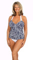 Women's Open Back Tankini with underwire support  #153 Bra Sizes C-DD
