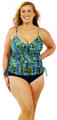 Women's Plus Slimming Drawstring Underwire Tankini #157SW Fits Bra sizes B-DD