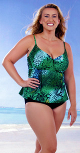 Women's  Underwire Tankini with extra loose fit #147 Bra sizes B-DD