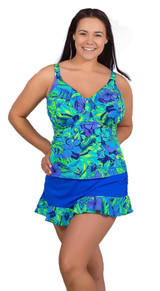bathing suit for large bust, tankini for large bra size, womens plus size swimwear