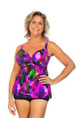 womens bra style tankini, bra cup swimwear, womens tankini by bra size, fitted bra tankini