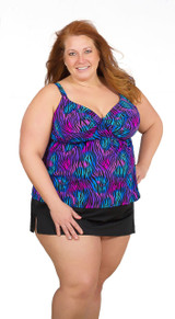 Women's Plus Swim Skirt with Built In Panty #7056 Sizes 4-30