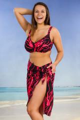 Women's Mid Length Beach Cover-up Sarong  #7013 Sizes XXS-XXL