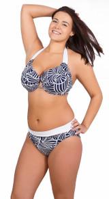 Bikini bottom, high rise bikini bottom, full coverage bikini bottom, bikini bottom with waistband, classic bikini bottom