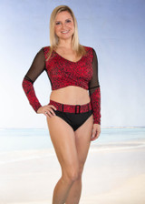 Comfortable & Stylish Long Sleeve Swim Top Style #8009