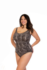 classic womens one piece, one piece with support, one piece for larger bust, plus size swimwear, plus size one piece swimwear