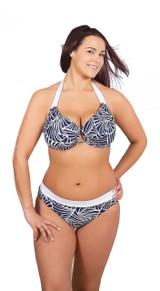 bikini for large breast, halter style bikini with great support, sexy bikini for large bust, bra style swimwear