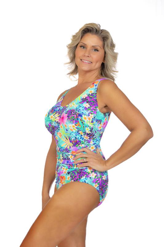 womens one piece swimsuit with underwire bra, womens swimwear, swimwear for large bust, one piece swimsuit with bra, one piece swimsuit for large breast