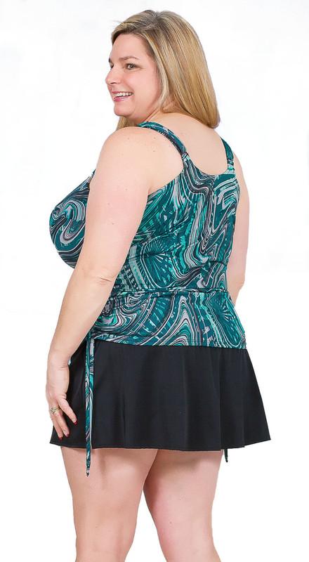 7399dba15e ... Women's plus size tankini for large bust, tankini for large women,  tankini with tummy ...