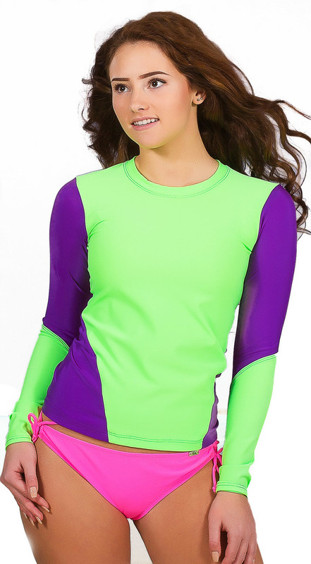 "Fitted Long Sleeve Rash Guard, ladies long sleeve athletic rash guard, sun spf protection, women""s rash guard, athletic rash guard for water sports"