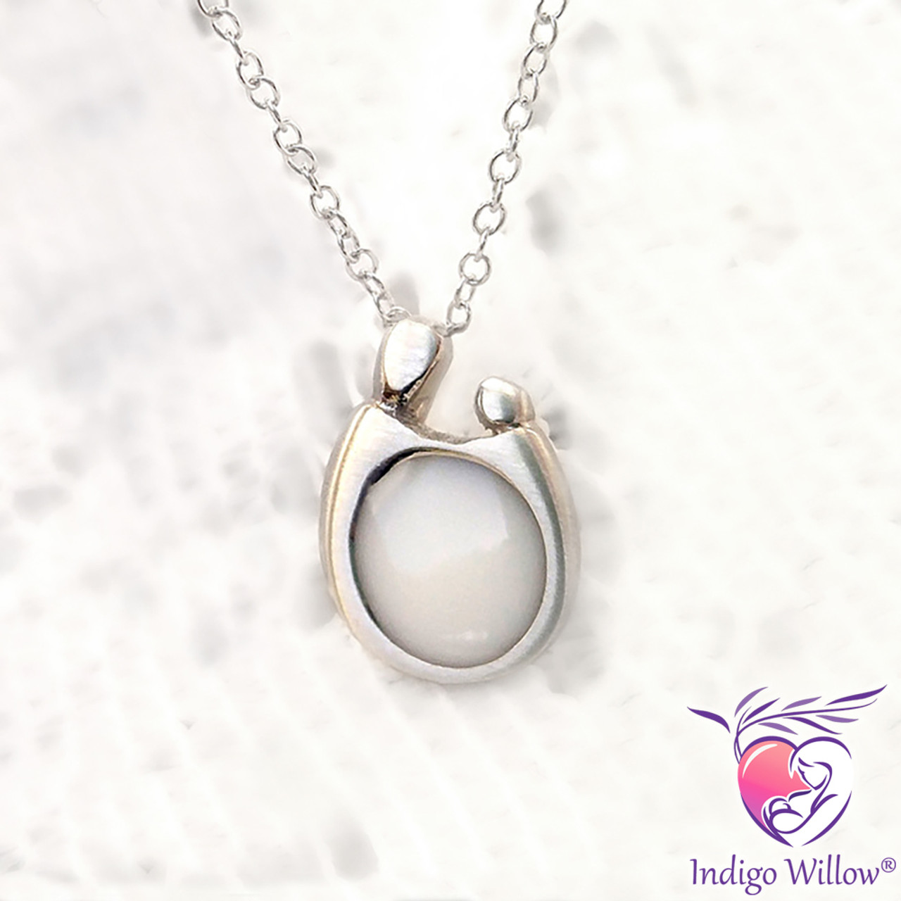 9e018488b Indigo Willow Breast Milk Jewelry & Keepsakes: Mother and Child Pendant in  Sterling Silver