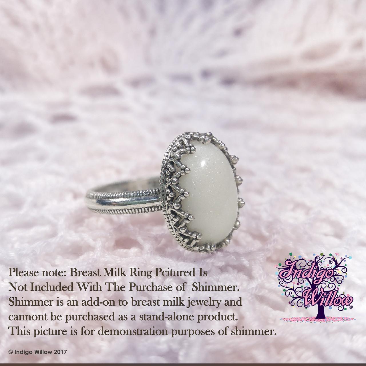 All Natural Shimmer Indigo Willow Breast Milk Jewelry Keepsakes