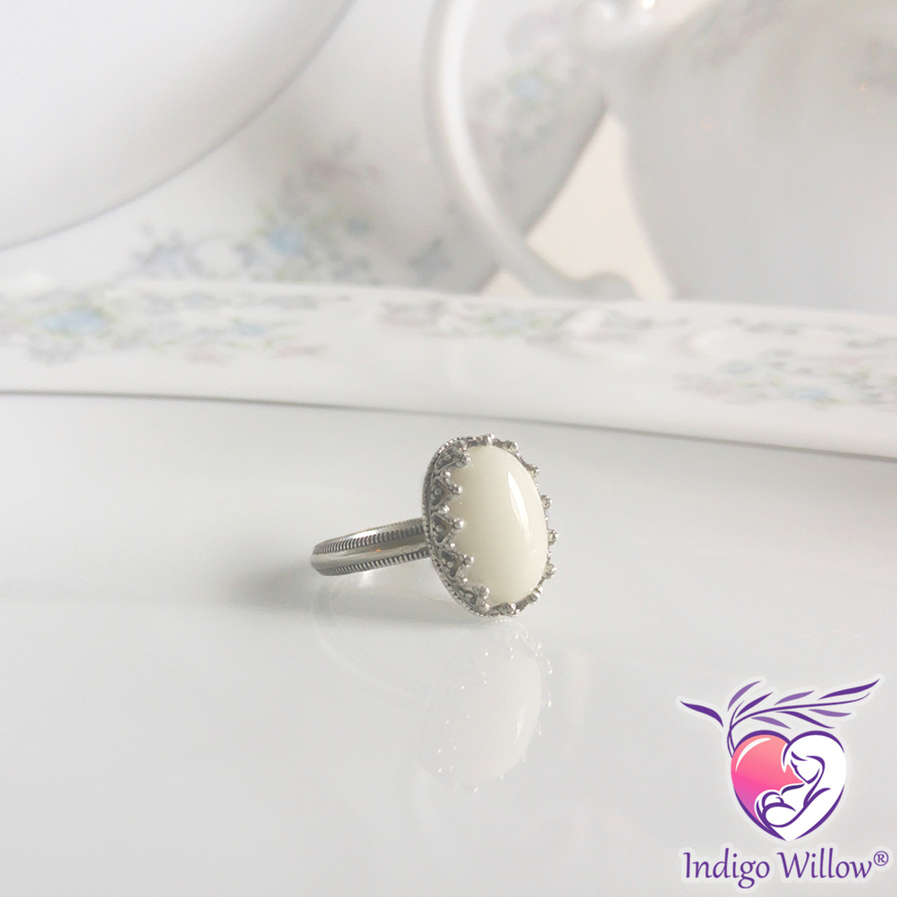 Timeless Crown Collection Royal Breast Milk Ring Silver Or Solid