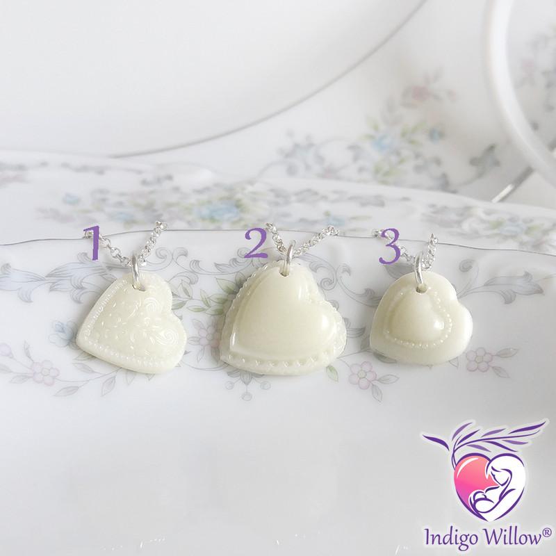 Breast Milk Jewelry Keepsakes From Indigo Willow Heart Charms
