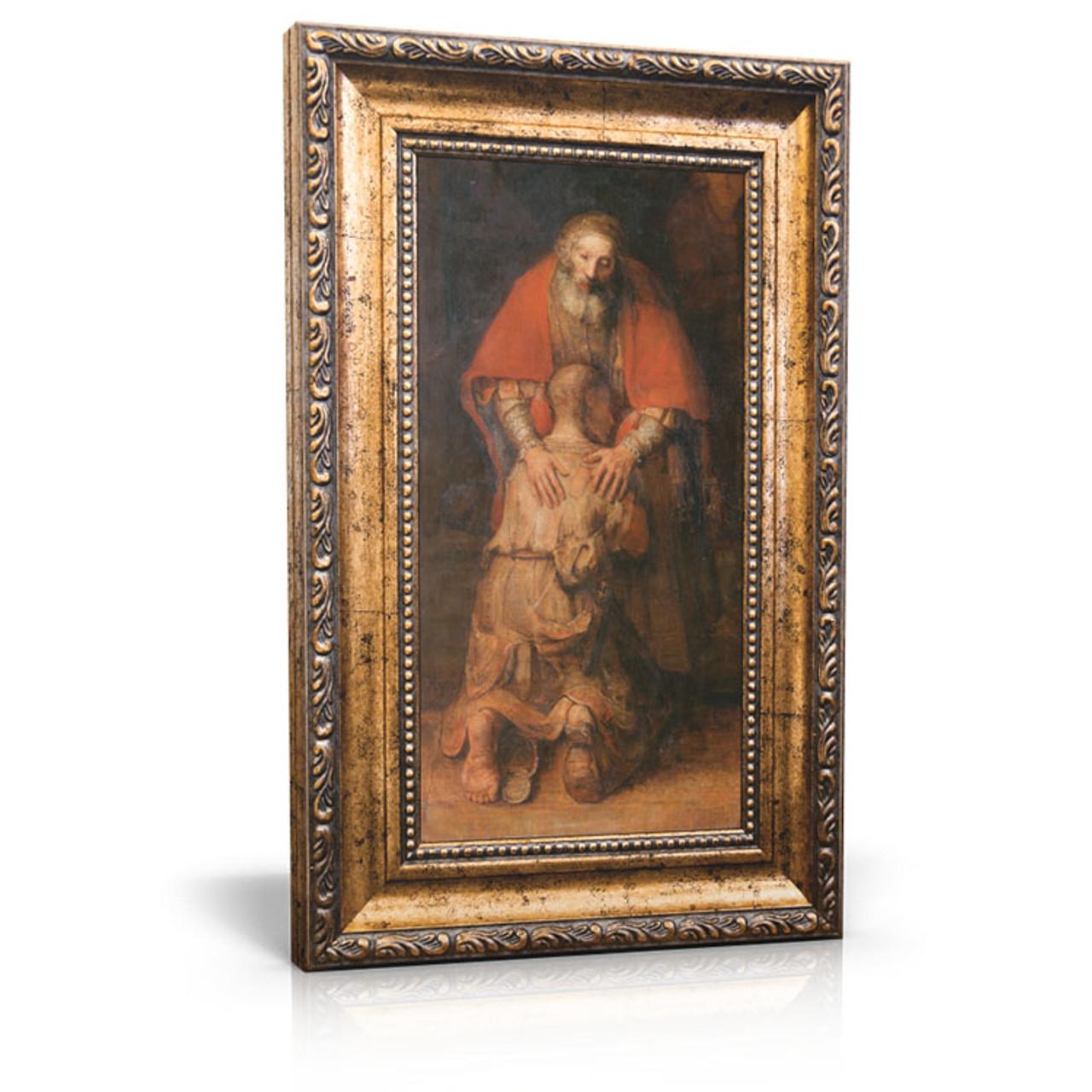 Rembrandt Return Of The Prodigal Son Framed Canvas 6 X 11 Including Frame 9 5 X 14 5 Cedar House