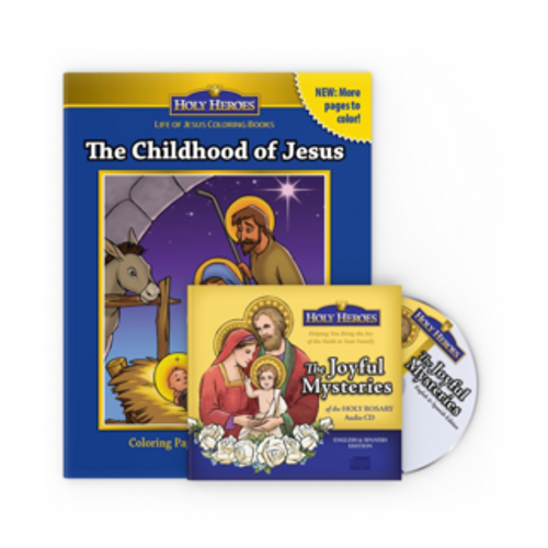 Joyful Mysteries CD & Childhood of Jesus coloring book