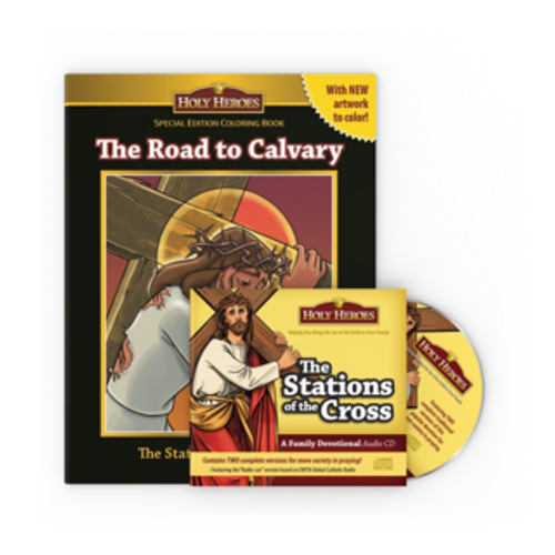 Stations of the Cross CD & Road to Calvary coloring book