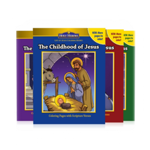 Life of Jesus 4-coloring books