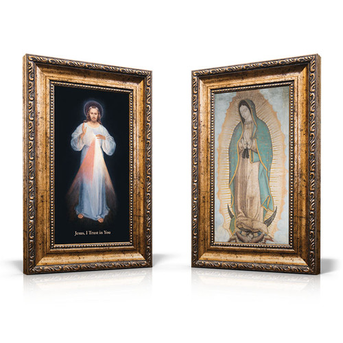 Divine Mercy (Vilnius) and Our Lady of Guadalupe Images