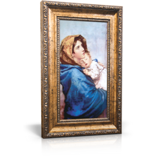 "Madonna of the Streets - Framed Canvas 6"" x 11"" (Including frame: 9.5"" x 14.5"")"
