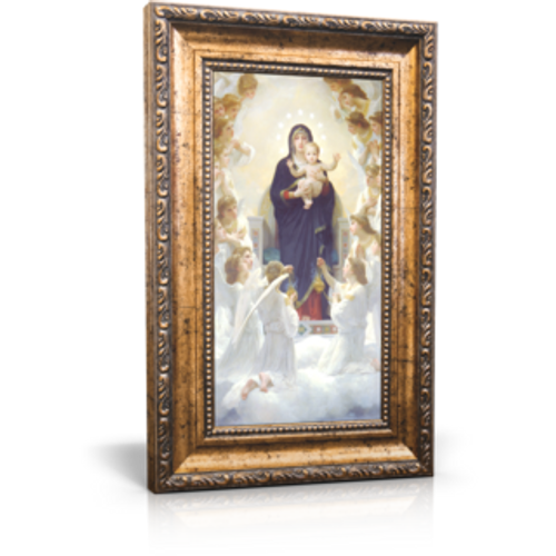 "Queen of Angels - Framed Canvas 6"" x 11"" (Including frame: 9.5"" x 14.5"")"