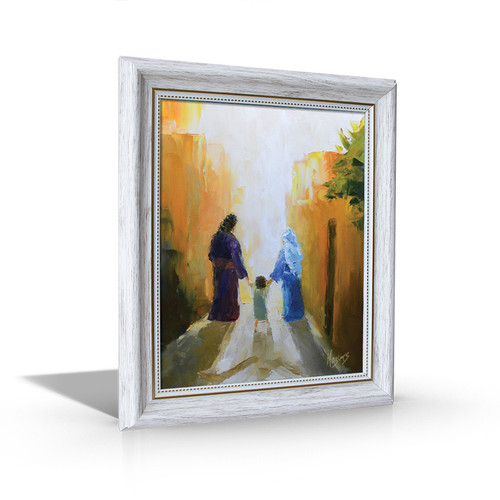 Holy Family - White Framed Canvas
