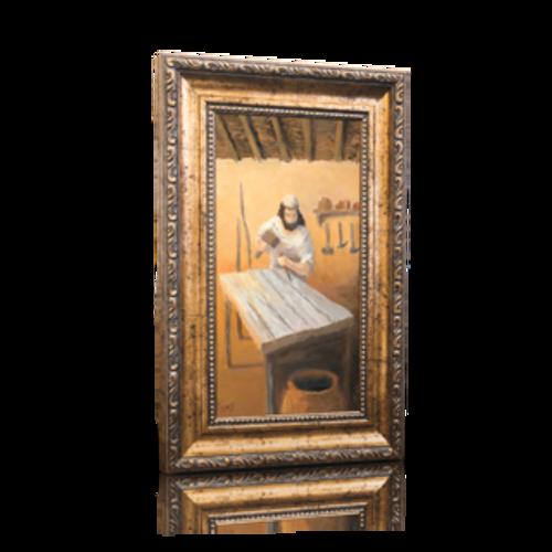 """Joseph the Carpenter - 6"""" x 11"""" (Including Frame: 9.5"""" X 14.5"""")"""