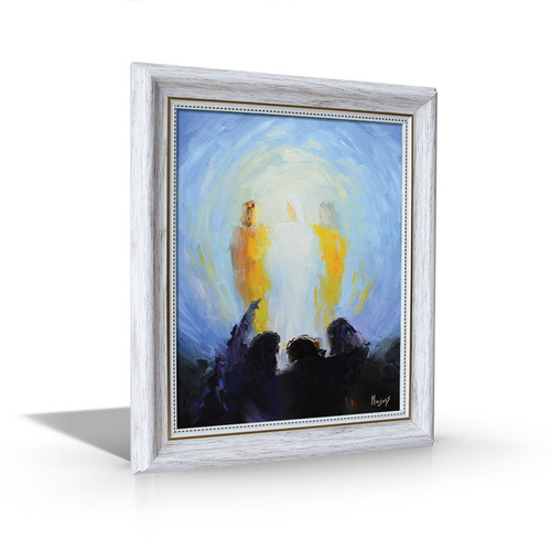 Transfiguration - White Framed Canvas