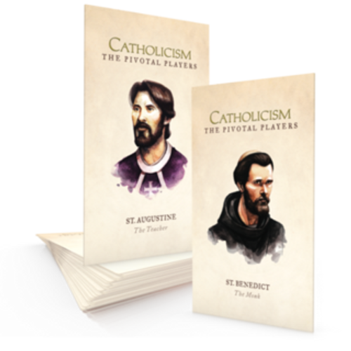 St. Augustine & St. Benedict - Pivotal Players - Prayer Card Packet