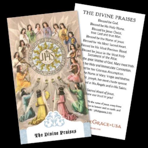 Divine Praises Prayer Cards