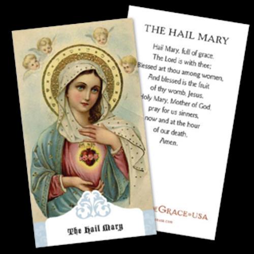 Hail Mary Prayer Cards